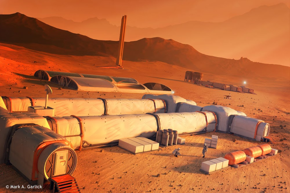 Mars base by Mark Garlick