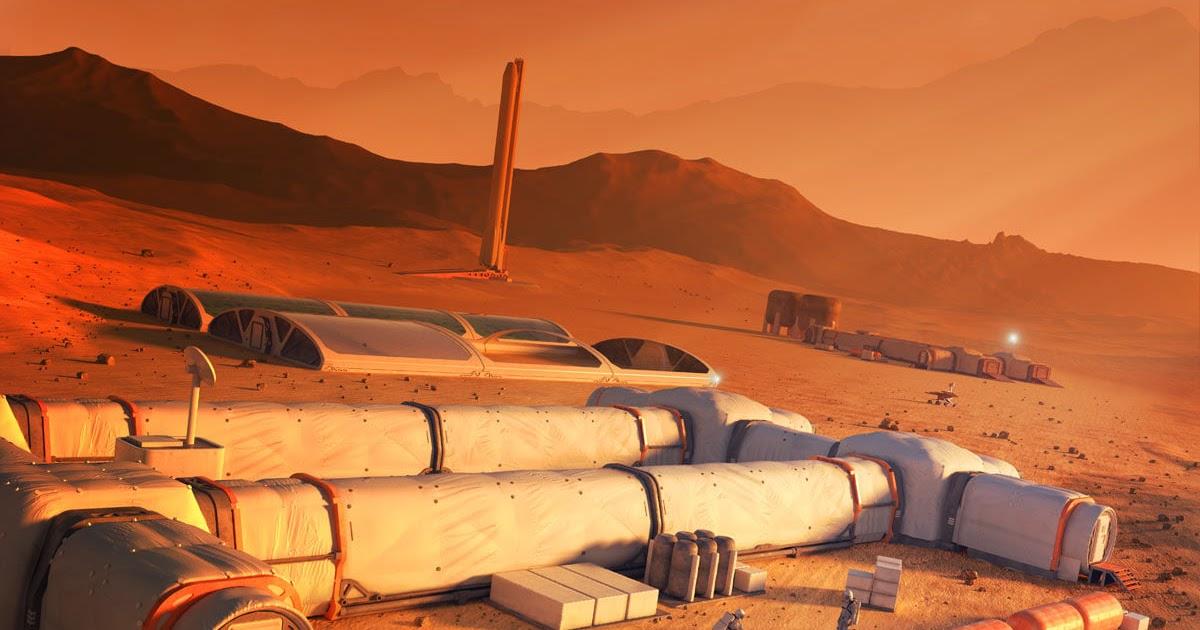 Mars base by Mark Garlick
