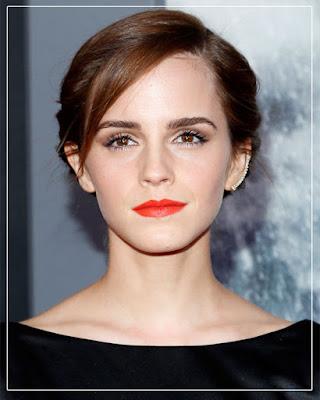 Emma Watson/ orange lipcolor/ orange lipstick