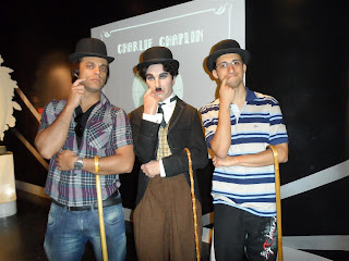 Estátua do Charles Chaplin no Madame Tussauds