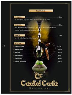cedid cafe restaurant eyüp istabul menü fiyat eyüp nargile yerleri
