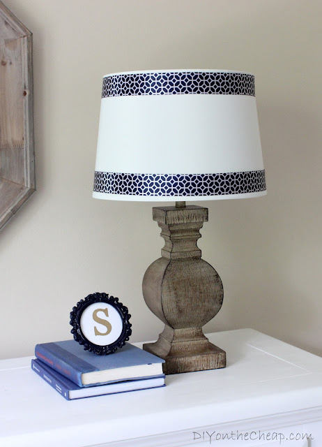 Easy Lamp Shade Ribbon Trim {no glue gun required!}