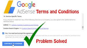 Terms in Google Adsense