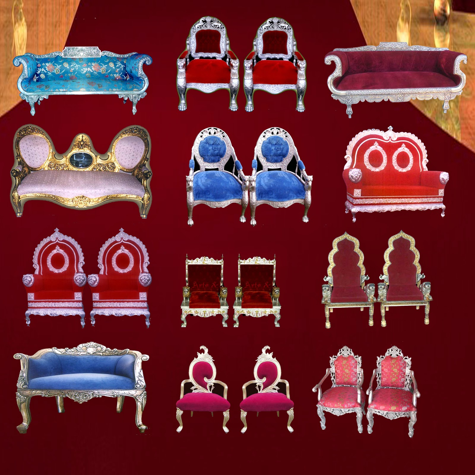 wedding sofa & chairs psd Files for Adobe shop Download