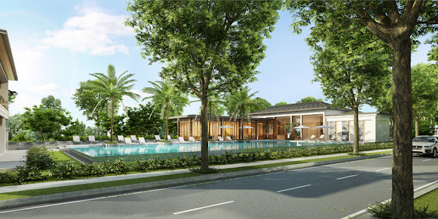 The project Nine South Estates villas launches prepared Nine South model
