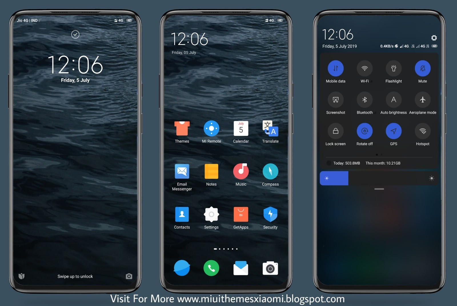 New Dark Ocean MIUI Theme Download For Xiaomi Mobile || MIUI Themes