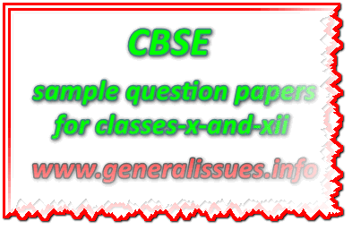 CBSE_sample question papers for classes-x-and-xii