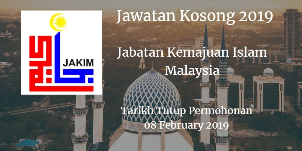 Jawatan Kosong JAKIM 08 February 2019