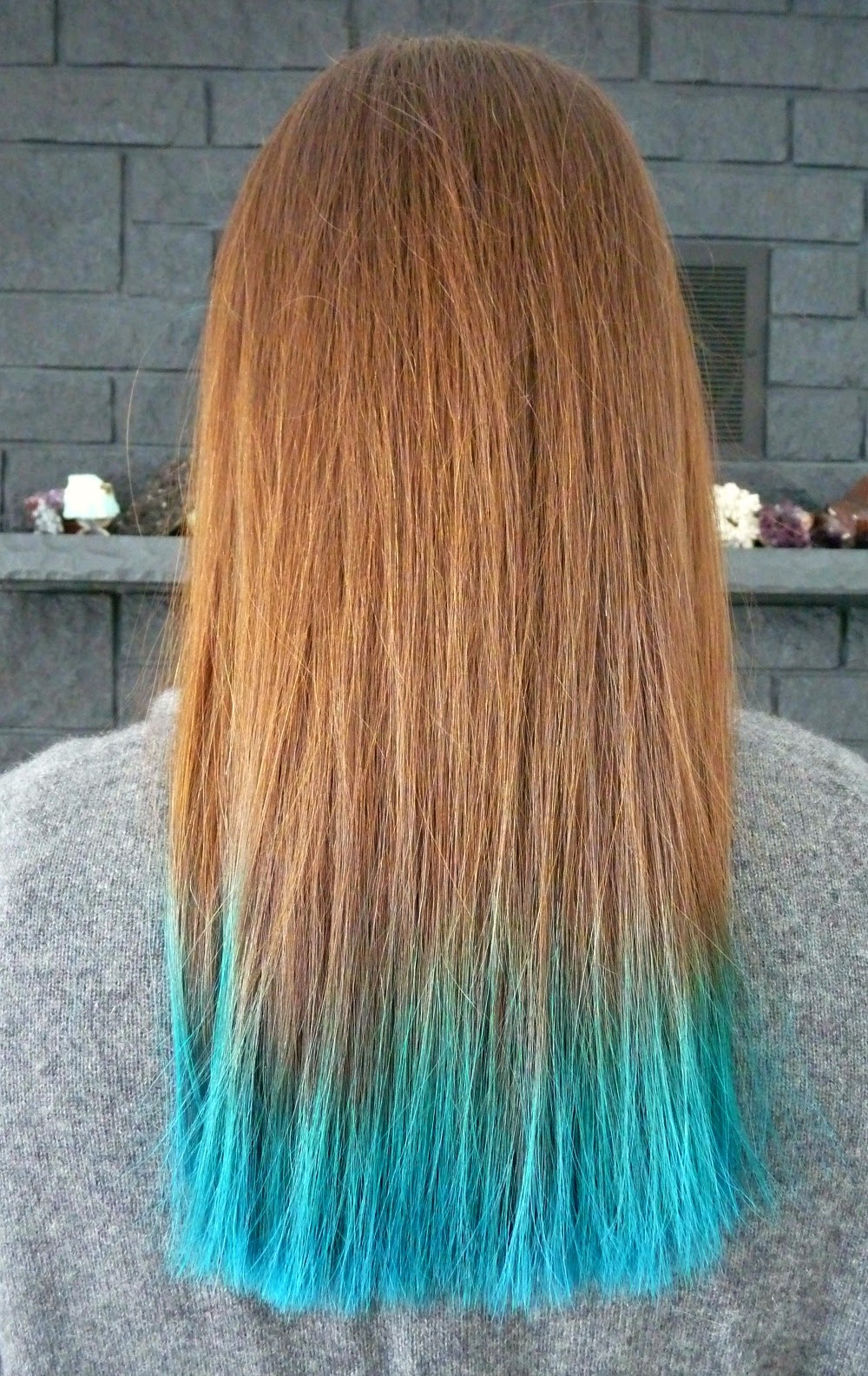 Natural Hair With Teal Ends