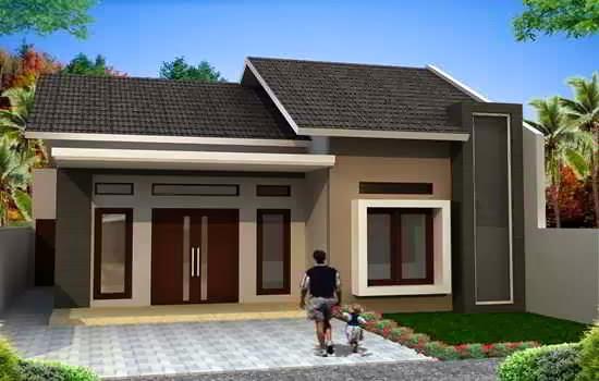 Desain Rumah Sederhana Tanpa Garasi 2020