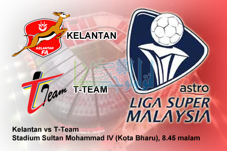 Live Streaming Kelantan vs T-Team 4 Mac 2017