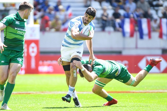 German Schulz of Argentina during the match between Ireland and Argentina at the HSBC Paris Sevens