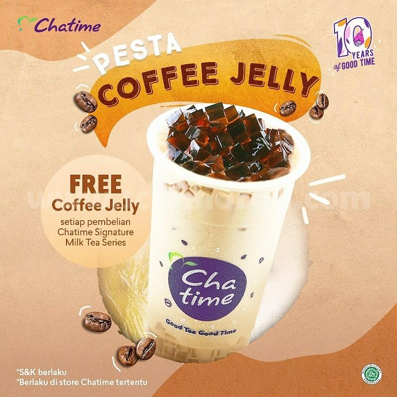 CHATIME Promo PESTA! GRATIS Coffee Jelly