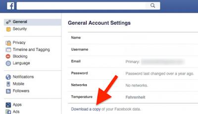 Facebook general account settings | Facebook General Settings