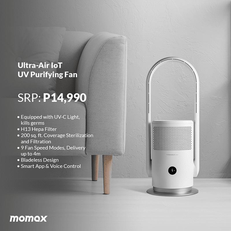 MOMAX Ultra-Air IoT UV Purifying Fan