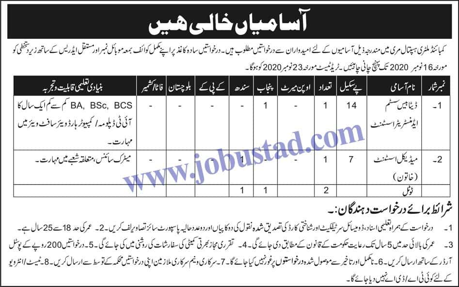 Jobs in Combined Military Hospital 2020