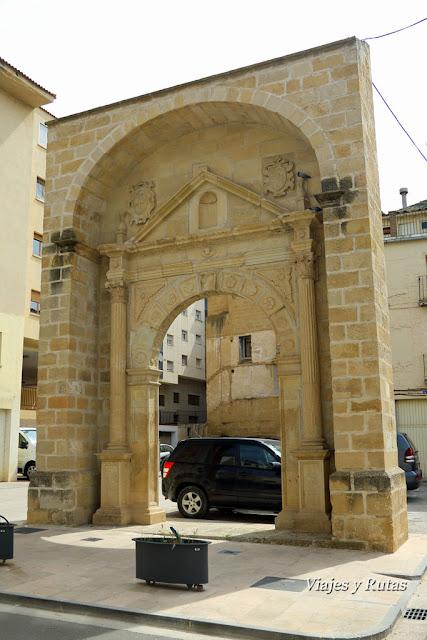 Arco del Convento de las Dominicas, Alcañiz, Teruel
