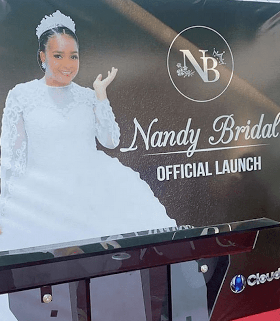 Singer and song-writer Nandy launches her Bridal and fashion company. FILE