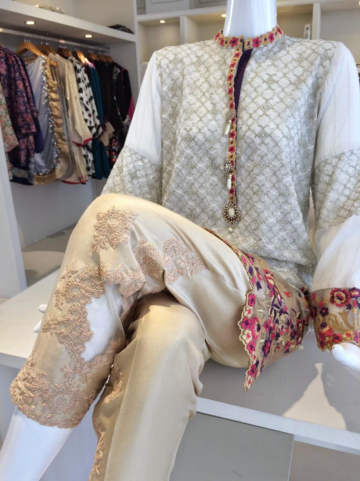 formal silk trousers Zara Shahjahan Store Karachi