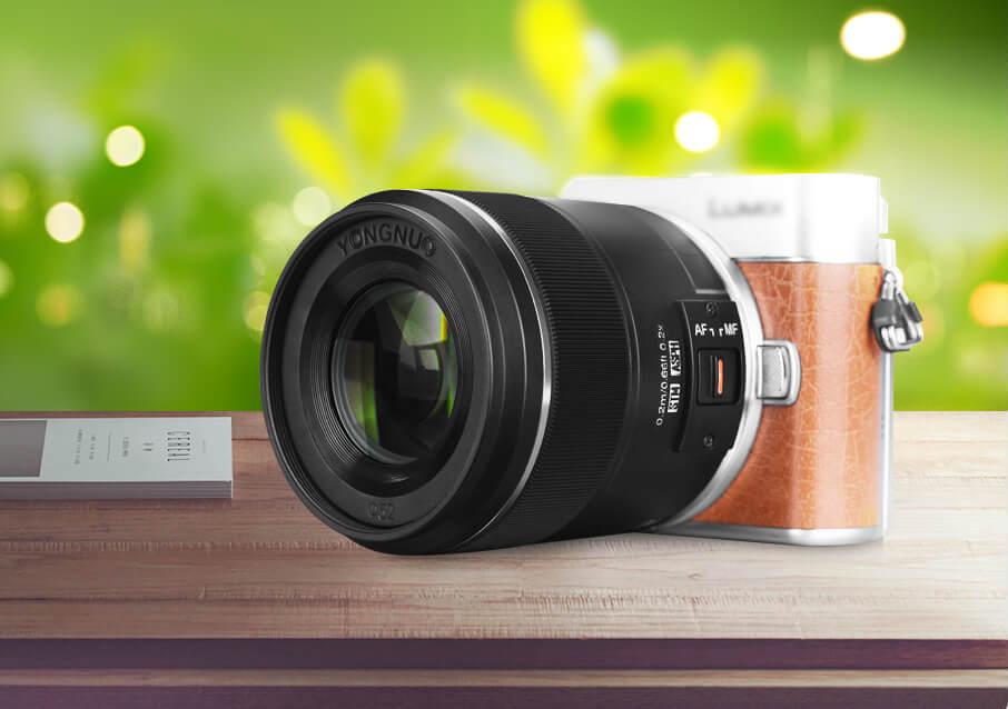 Объектив Yongnuo YN 25mm f/1.7 STM ASPH с камерой Panasonic Lumix