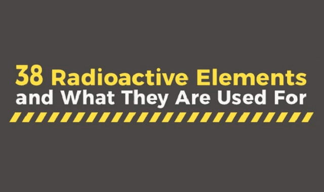 38 Radioactive Elements and What They Are Used For #infographic