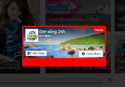 Code Popup like fanpage xuất hiện 1 lần hỗ trợ giao diện Mobile cho Blogspot