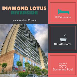 căn hộ 1 phòng ngủ diamond lotus riverside quận 8