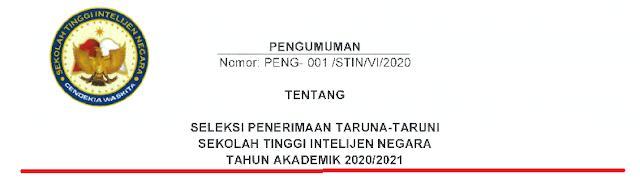Jadwal dan Persyaratan Pendaftaran STIN Tahun Akademik  JADWAL DAN PERSYARATAN PENDAFTARAN STIN TAHUN AKADEMIK 2020/2021