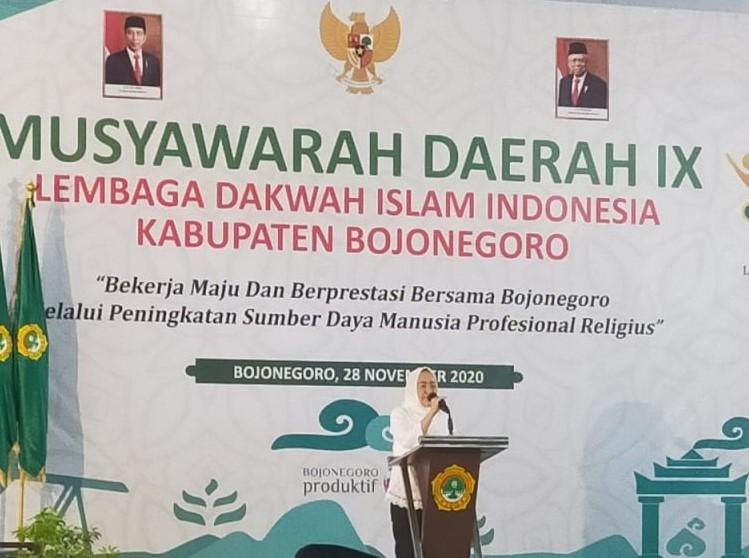 Bupati Bojonegoro, Anna Muawannah Membuka Musyawaroh Daerah LDII Bojonegoro