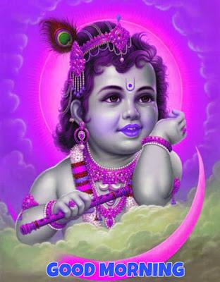 good morning baby krishna images