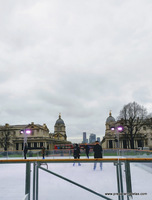 pista de patinaje en Greenwich Londres