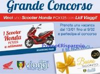 Logo ''Concorso Lidl Viaggi e Honda'' : vinci Scooter Honda mod. PCX125 e buono 20€ premio certo