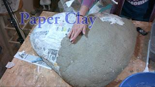 Paper Clay Mache Strawberry