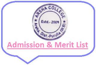 Arsha College Merit List