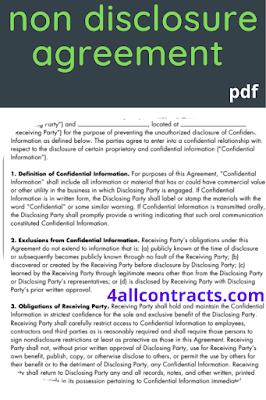 employee non disclosure agreement pdf