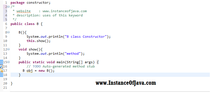 Java programming examples on this keyword