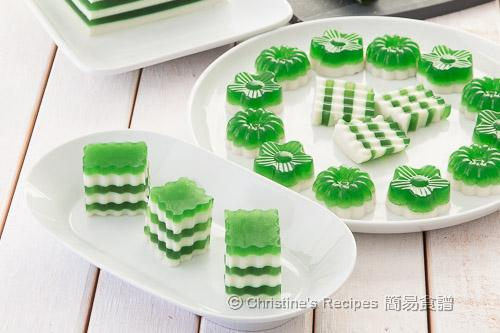 班蘭椰汁雙色糕 Pandan-Coconut Layered Agar Jelly02