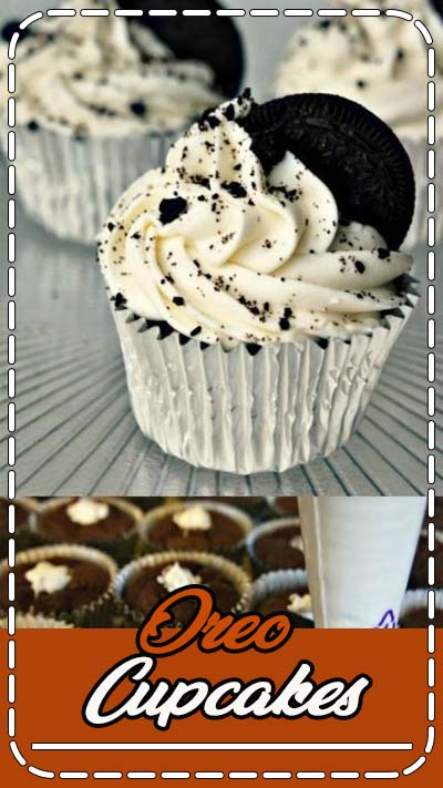 Ready for the best Oreo Cupcakes you've ever tasted?! Oreo cupcakes have a rich chocolate cupcake with Oreo cookie chunks and chocolate chips baked into the cake and topped with a fluffy cream cheese frosting and covered with more Oreo cookie crumbles.