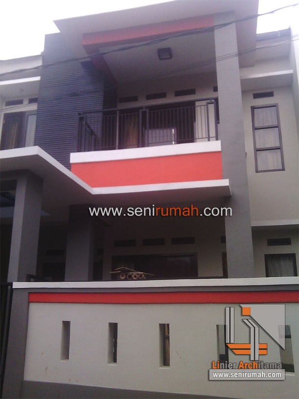Desain Rumah Minimalis Tanah 75 x 15 Meter di Jatiasih