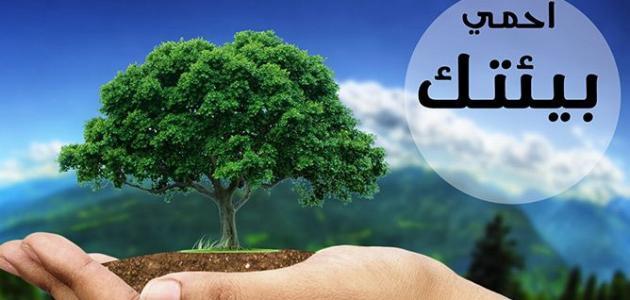 البيئة وتربية الإنسان  المحافظة عليها
