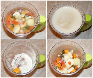 peste si legume mixate la blender, retete pentru copii, supe creme, supa de peste cu legume la blender, retete de peste, preparate din peste, retete culinare,