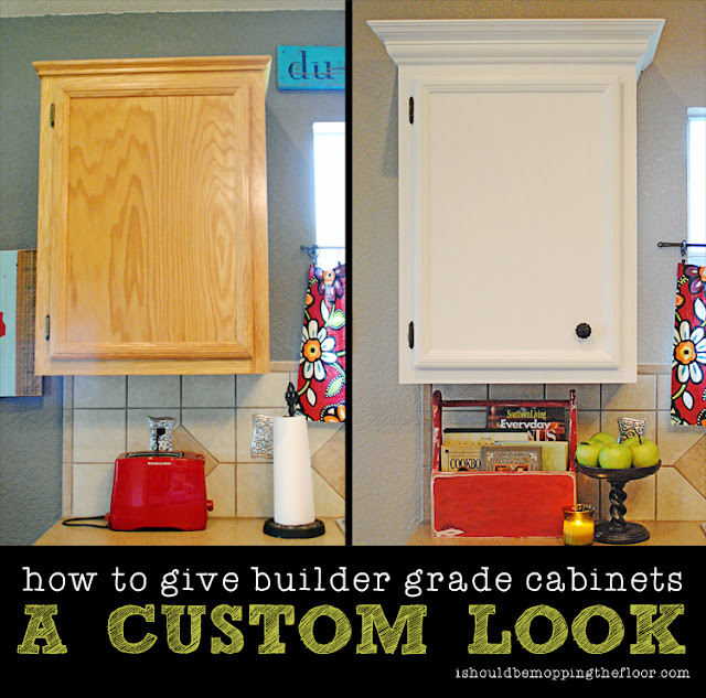 how to make stock cabinets look custom