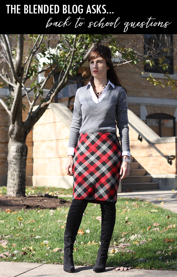 plaid skirt fall outfit