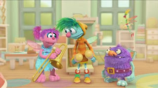 Abby Cadabby, Blögg, Gonnigan, Mrs. Sparklenose, Abby's Flying Fairy School Fairy Face the Music, Sesame Street Episode 4326 Great Vibrations season 43