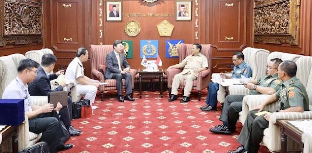 Dalam Sehari, Menhan Prabowo Dikunjungi Tiga Dubes