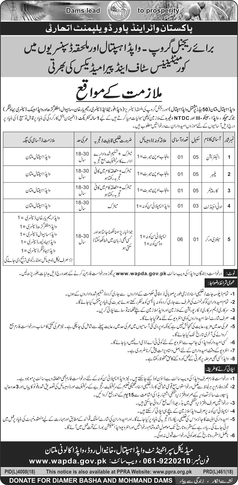 JOBS OPPORTUNITY AT WAPDA HOSPITAL MULTAN