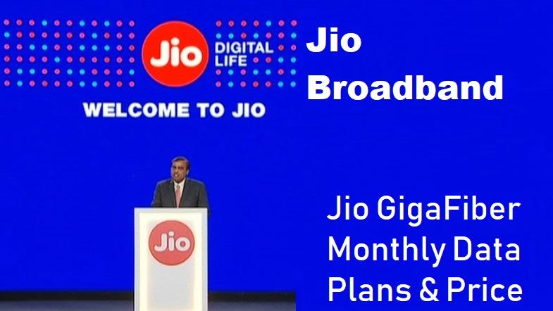jio broadband plans : Jio GigaFiber Plan & Price in India