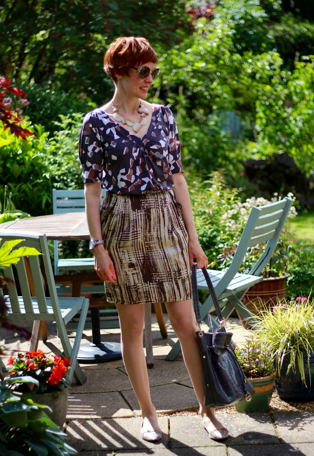 Fake Fabulous | 7 ways to look cool at work when it is HOT | Mixing patterns