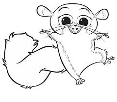 Cute Mort Character Of Madagascar Coloring Pages