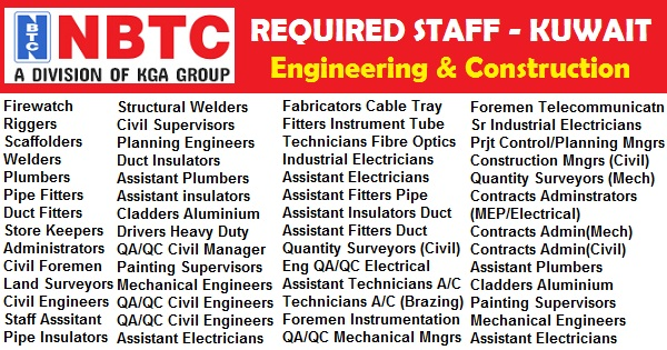 Latest #Jobs in #NBTC – #Kuwait 2017 apply now | jobi club